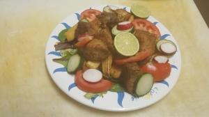 Yuca con chicharon