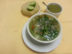 Sopa de rez