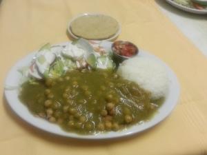 Torta de pescado en salsa verde